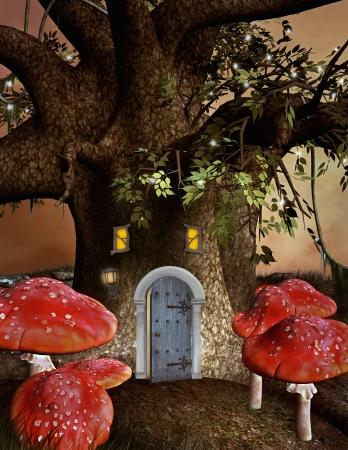 elves: Elves house Stock Photo