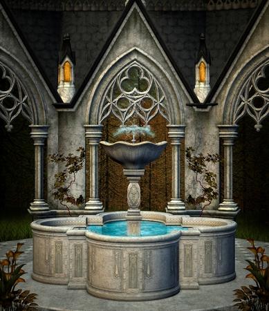garden fountain: Elf fountain