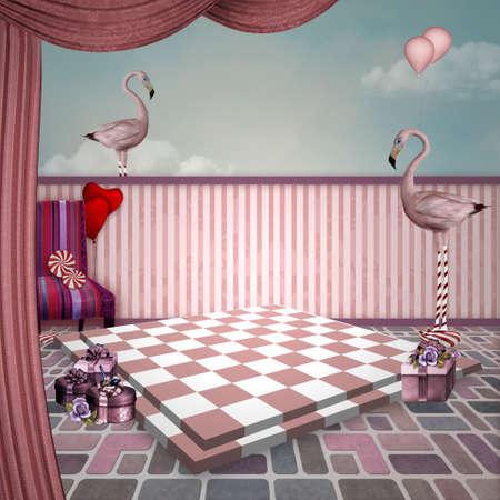 surrealism: Wonderland series - Wonderland toys background