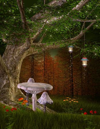 fairy tree: Midsummer night dream series - The fairies hill