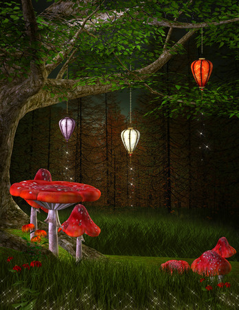 undergrowth: Lanterns hill
