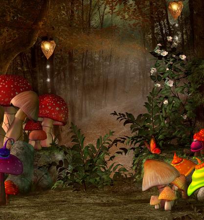 真夏夜の夢シリーズ - 魔法の森の中に配置します。