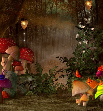 enchanted forest: Midsummer night dream series - Magic place into the forest