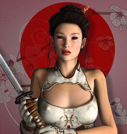 Oriental warrior photo