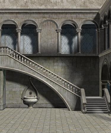 Binnenplaats van het kasteel