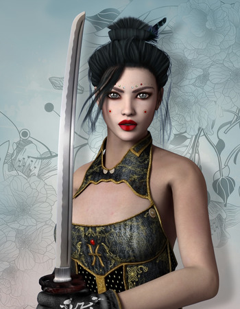 female portrait: Fantasy warrior Stock Photo