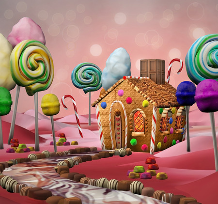 candies: terre Candy Banque d'images