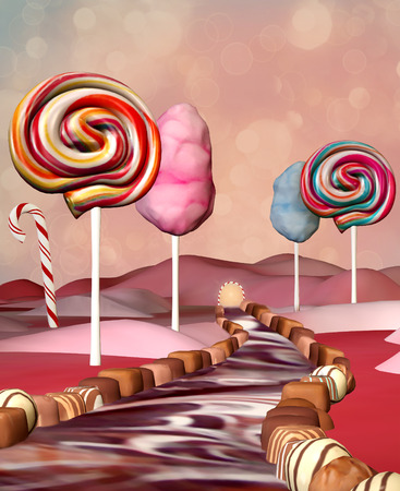dream land: Chocolate road