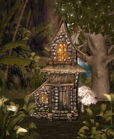 gnomes: Enchanted little chalet