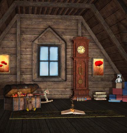 ヴィンテージのおもちゃの部屋