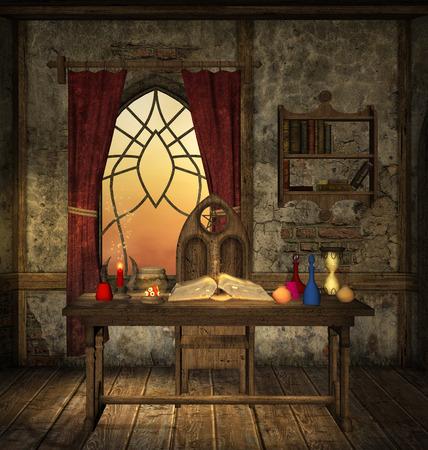 castillo medieval: Habitación misteriosa