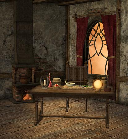 castle interior: Alchemy room