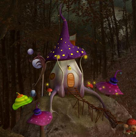 Mushrooms hill