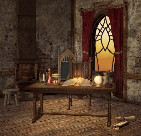 chamber pot: Magic room
