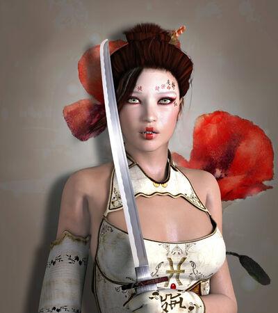 Warrior with sword  photo