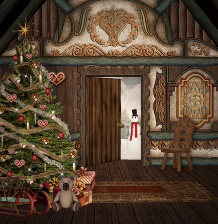 christmas bubbles: Enchanted winter chalet