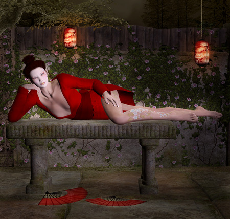Geisha relax photo