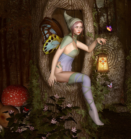 nocturne: Elf in the wood
