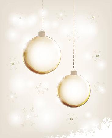 christmas postcard with glass christmas balls and space for text stock vector 33445990 - Glass Christmas Balls