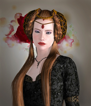 medieval woman: Young medieval lady