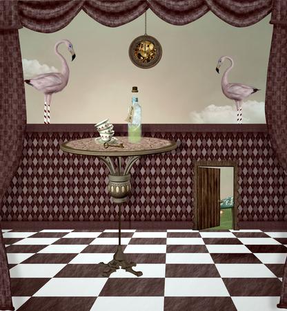 the passage: Wonderland series - Surreal drink room
