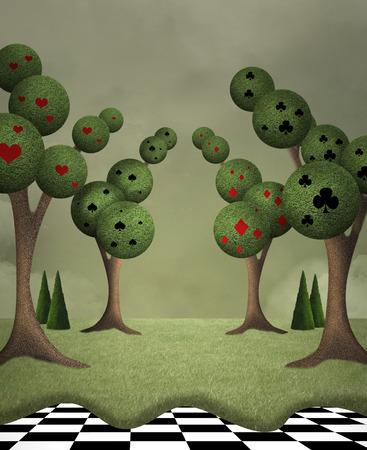 Wonderland series - Queen of hearts garden