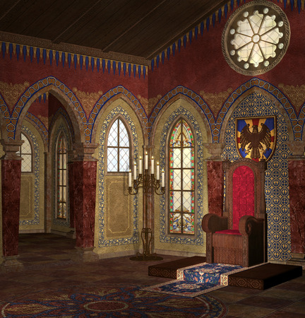 throne: Medieval room of throne