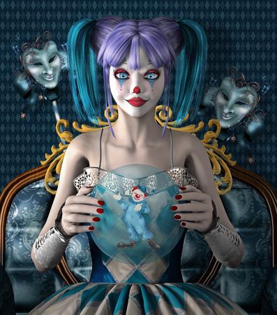 scary clown: Bizarre clown
