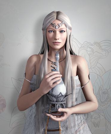 elixir: Elves queen with elixir