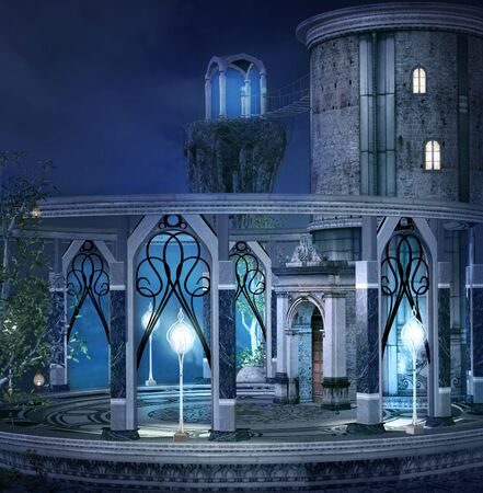 nocturne: Elves palace Stock Photo