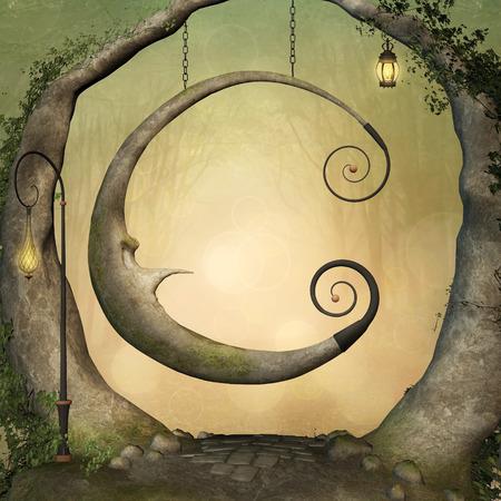 Enchanted swing 写真素材