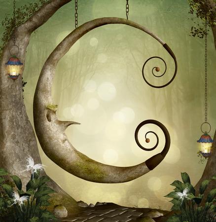 Forest secret swing