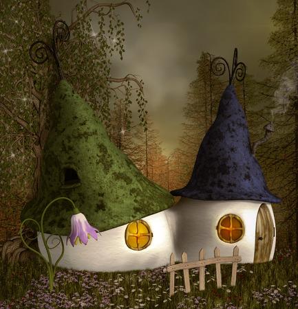 nocturne: Lovely elves houses
