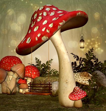 Elf Fantasy tuin Stockfoto - 38393928