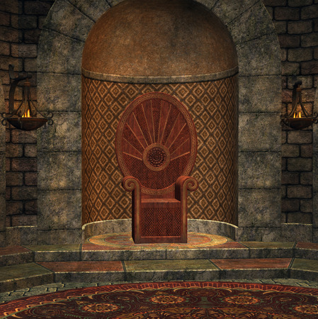 palace: Chamber of throne Stock Photo