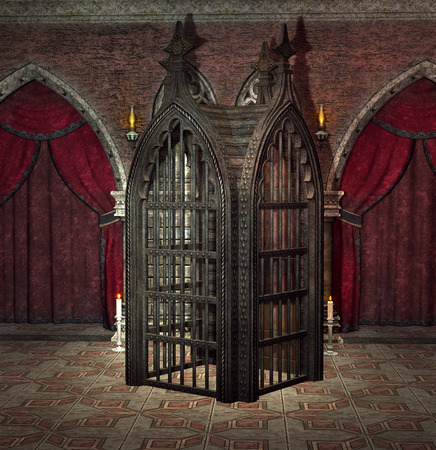 in a cage: Gothic cage