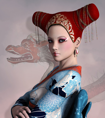 fantasy warrior: Eastern lady portrait
