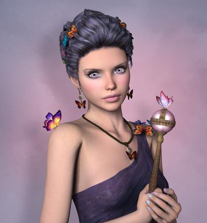 scepter: Queen of butterflies