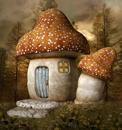 wooden houses: Mushroom house