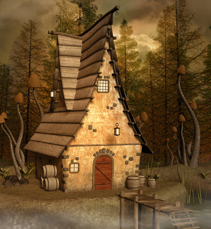 lake house: Fantasy house near the lake