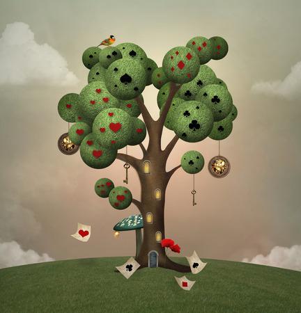 Wonderland series - Wonderland tree
