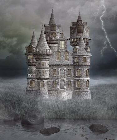 gothic architecture: Gothic mysterious castle