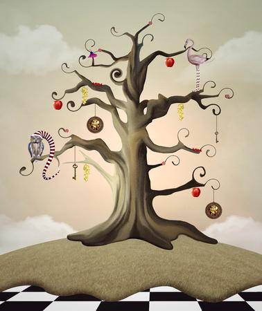 Wonderland-serie - Wonderland boom des levens Stockfoto