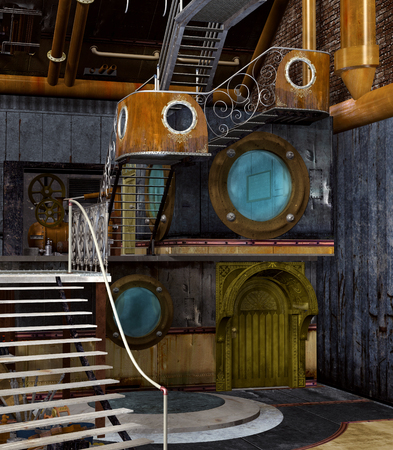 empty interior: Steampunk empty interior