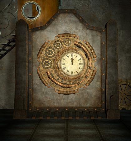 punk: Steam punk clock room