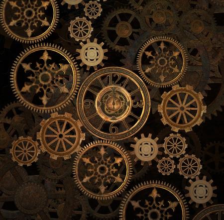 Steam punk gears background Foto de archivo