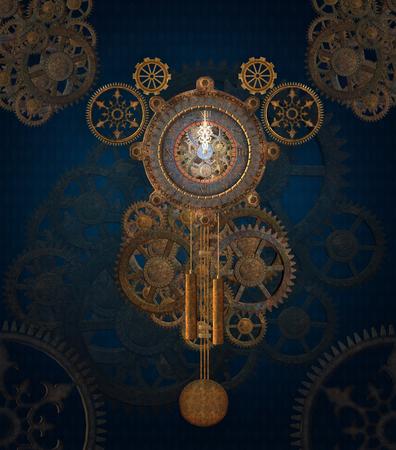reloj de pendulo: Stem fondo del reloj de punk