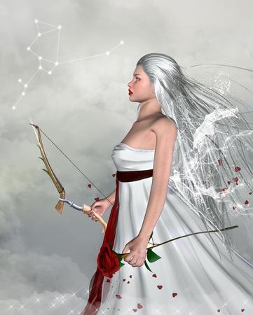 zodiac constellations: Zodiac series - Sagittarius like a beautiful girl