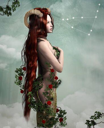 myth: Zodiac series - Capricorn Stock Photo