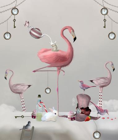 Meraviglie della serie - Flamingo tea party banchetto